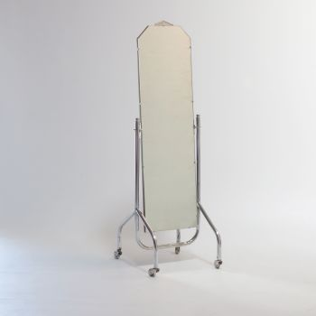 Art Deco Chrome Cheval mirror 1930's
