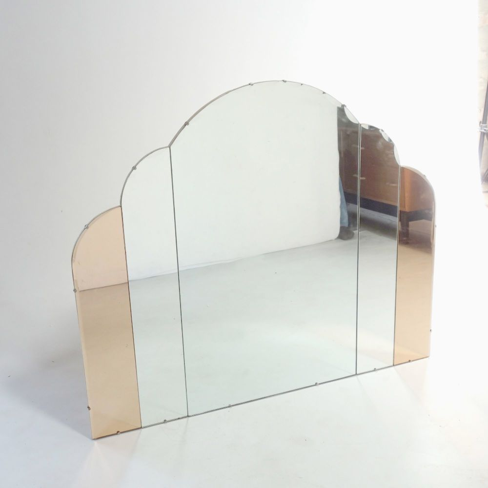 Art Deco overmantel wall mirror circa 1930