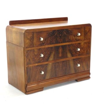 Art Deco Chest Of Draws In Walnut SOLD