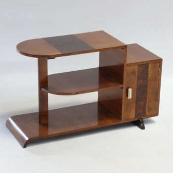 Art Deco Walnut Table Display English 1930s