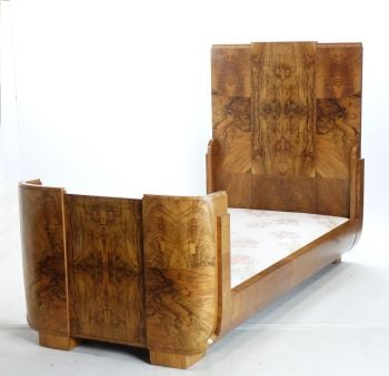 Art Deco Bed In Walnut By Hille SOLD