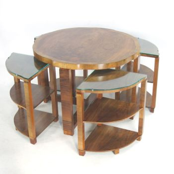 Art Deco Nest of Tables by H&L Epstein.