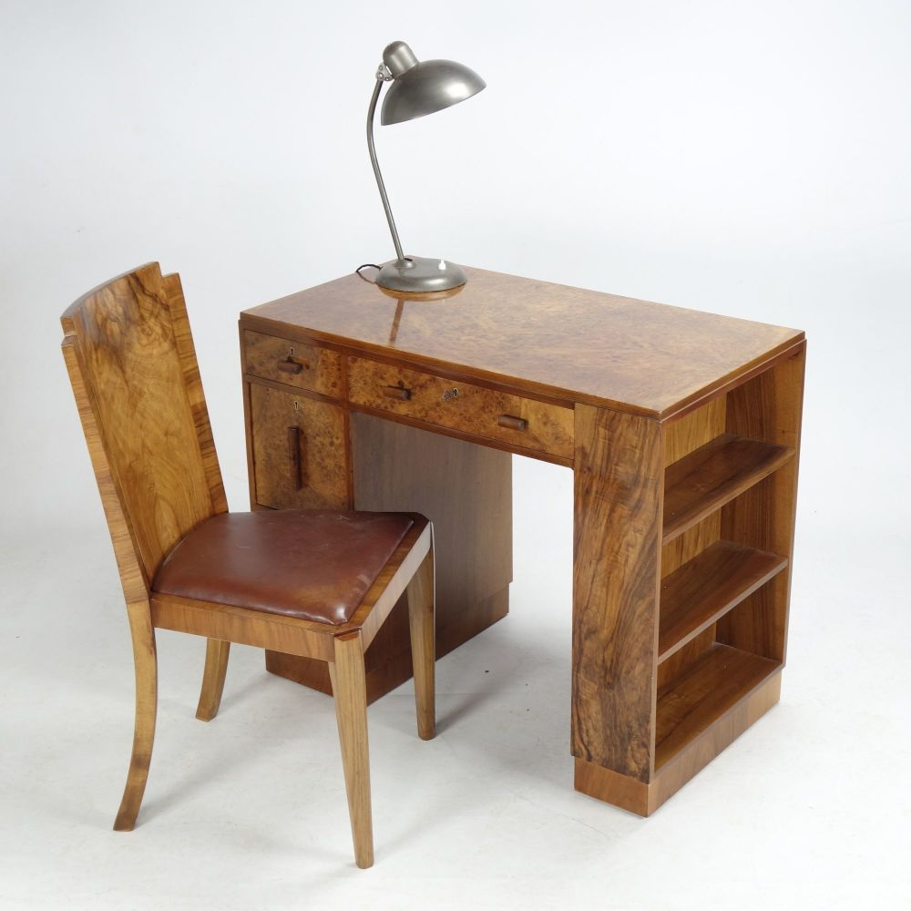 Art Deco Desk Chair Walnut