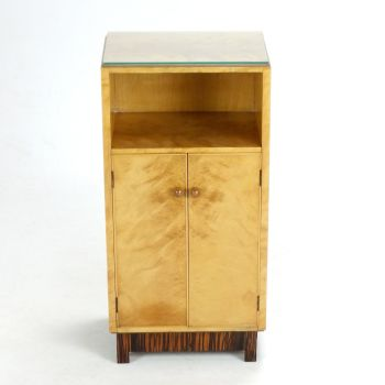 Art deco Cupboard Cabinet in Satin Birch Sold