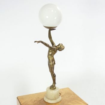 Art Deco Lady Lamp 1930's  SOLD