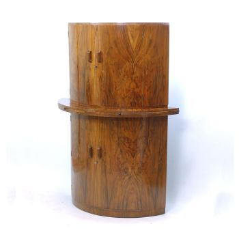 Art Deco Cocktail Cabinet in Walnut by Gold and Feather SOLD