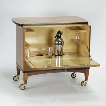 Art Deco Drinks Cocktail Bar Trolley Circa 1940