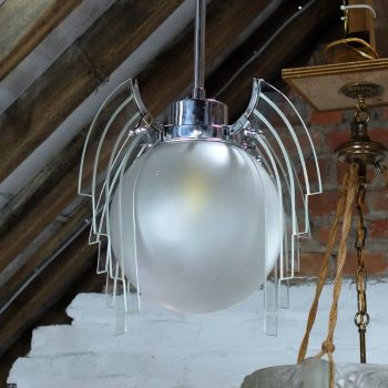 Art deco winged globe Ceiling Light RESERVED