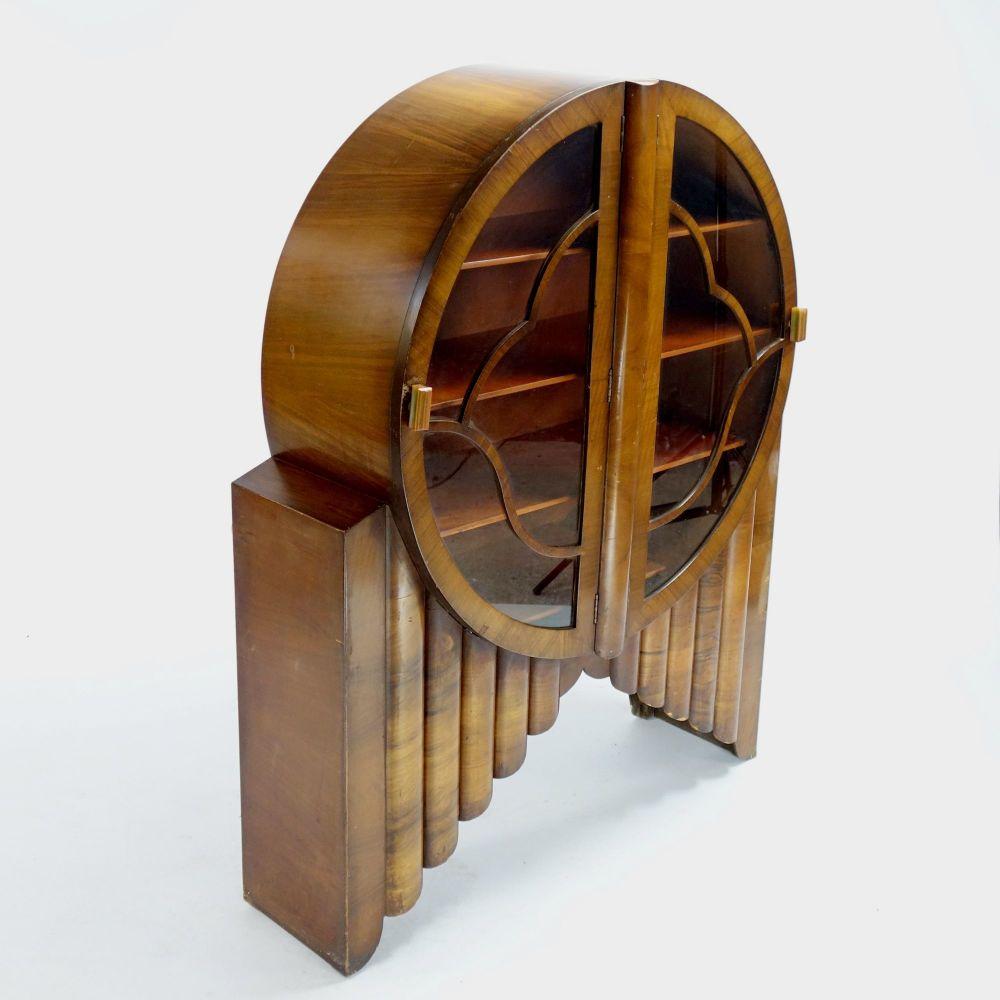 Art Deco Round Rocket display cabinet