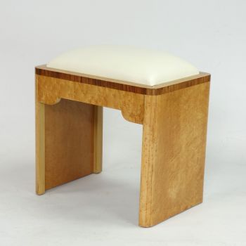 Art Deco Birds eye maple stool c1930  SOLD