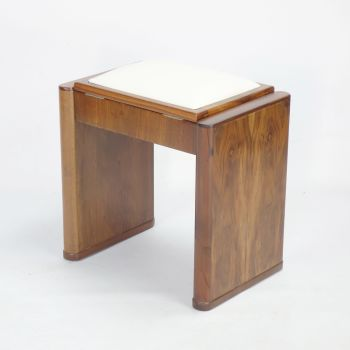 Art Deco Piano stool in Walnut C1930 by Eavestaff  SOLD
