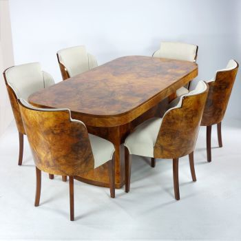 Art Deco Dining Table and Chairs H&L Epstein SOLD