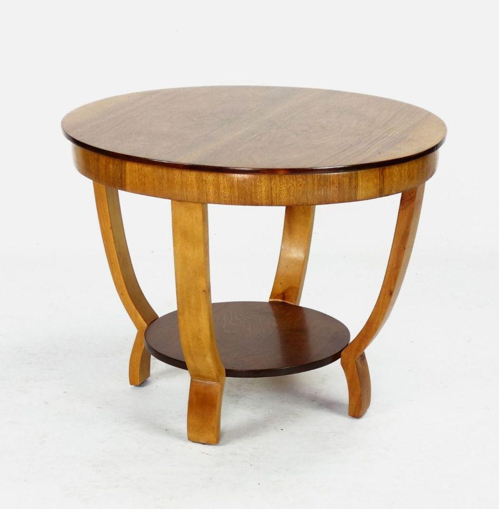 Art Deco Side Table in Walnut.