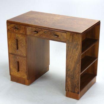Art Deco Desk in Walnut SOLD