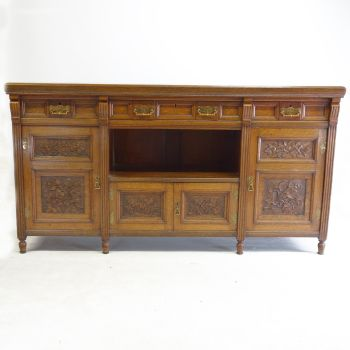 Victorian Aesthetic Movement Sideboard in Oak 1880's  SOLD