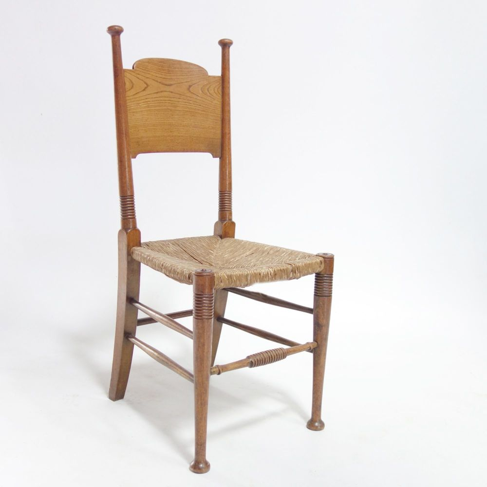 Arts and Crafts Oak Dining Hall Chair by William Birch