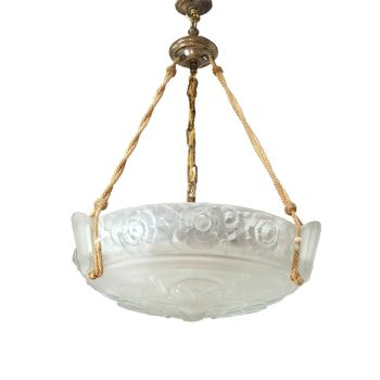 Art Deco Chandelier by Sabino circa 1930 RESERVED