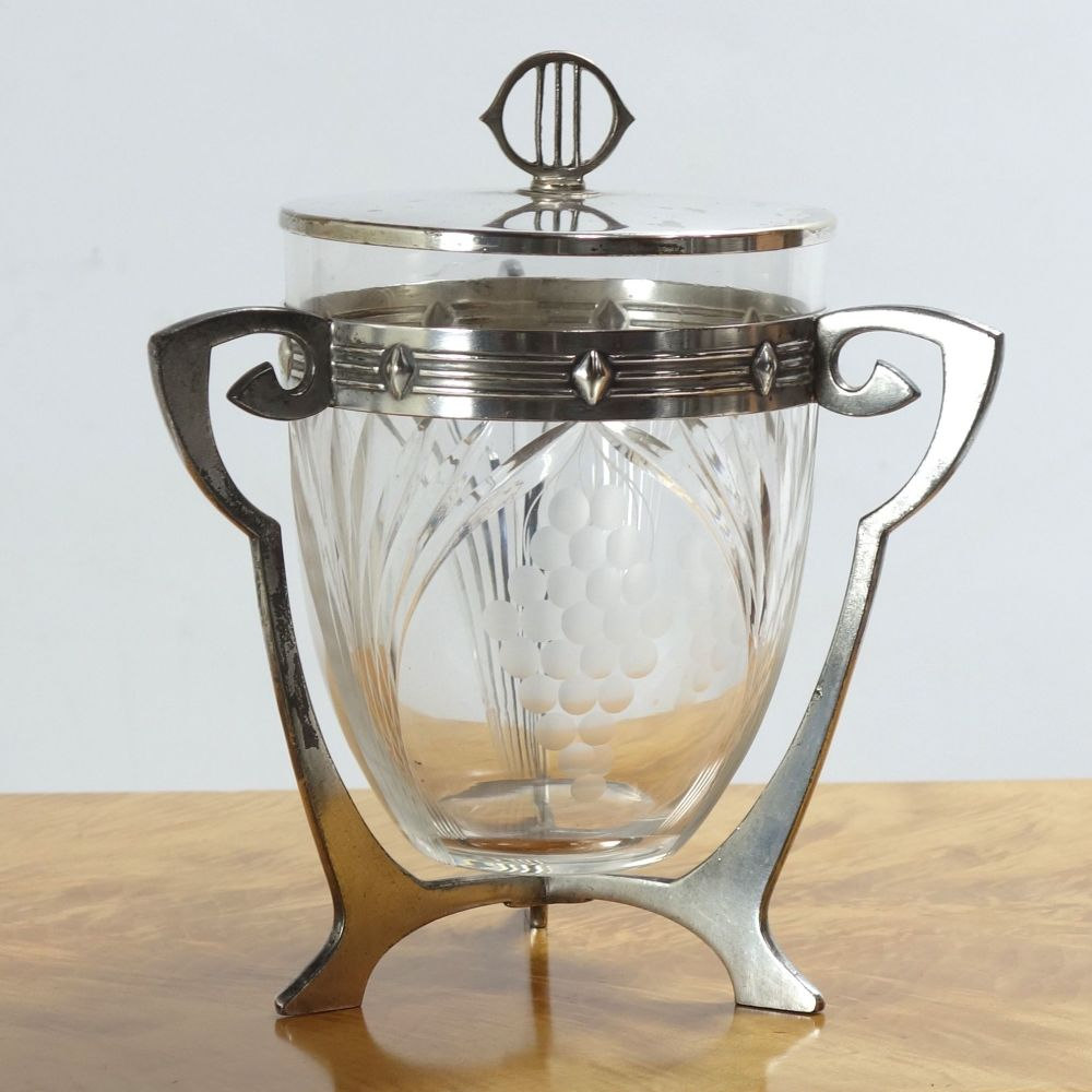 Art Nouveau Biscuit Barrel and cover by WMF