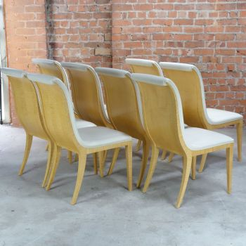 Art Deco Style Dining chairs Set of Eight RESERVED