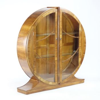 Art Deco Circular Display Cabinet 1930s.