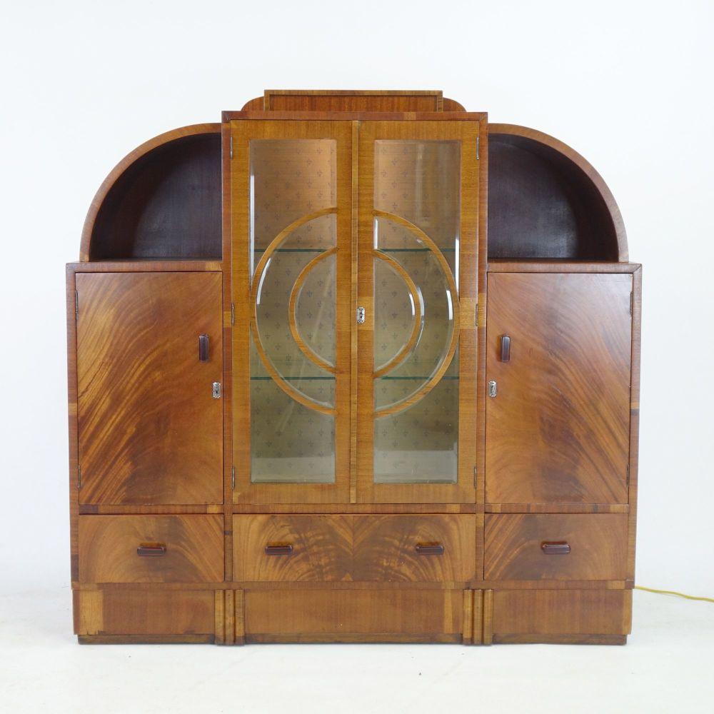 Art Deco Display Cabinet .