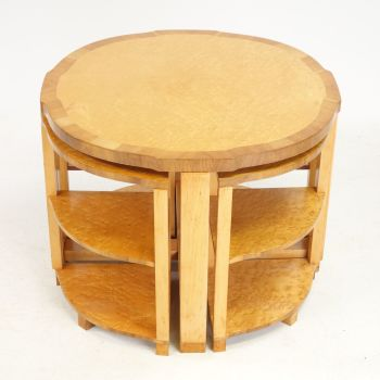 Nest of five Art Deco Tables by H&L Epstein. SOLD