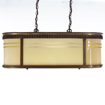 Art deco Bronze Odeon Chandelier 1930 SOLD