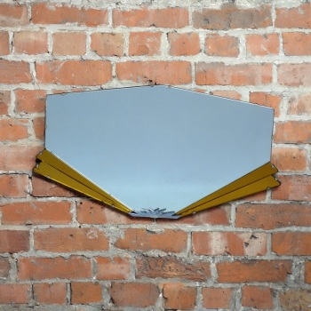 Art Deco Fan wall Mirror circa 1930