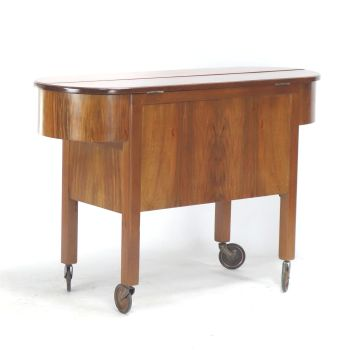 Art Deco Metamorphic Cocktail Cabinet Trolley Circa 1930 SOLD