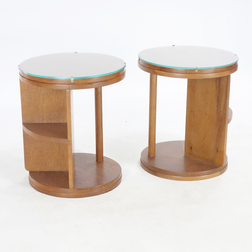 Pair of Modernist Art Deco Side Tables 1930's