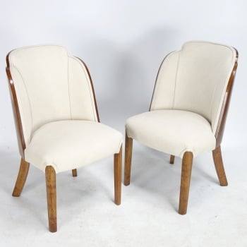 Pair of Art Deco Cloud Chairs by H and L Epstein 1930's SOLD