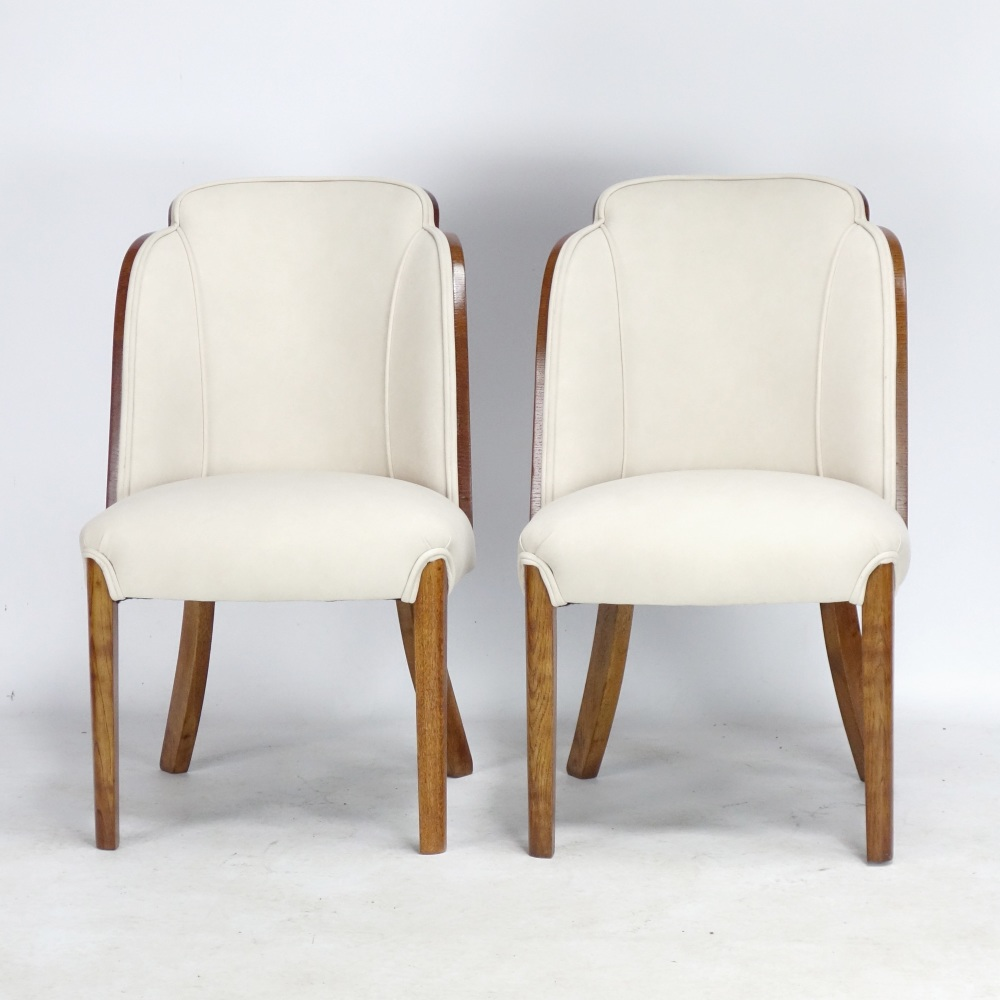 Pair of Art Deco Cloud Chairs by H and L Epstein 1930's