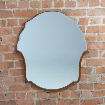 Art Deco Walnut Wall Mirror French 1930's