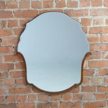 Art Deco Walnut Wall Mirror French 1930's