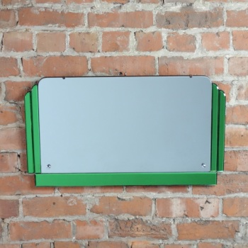 Art Deco Green Wall Mirror 1930's