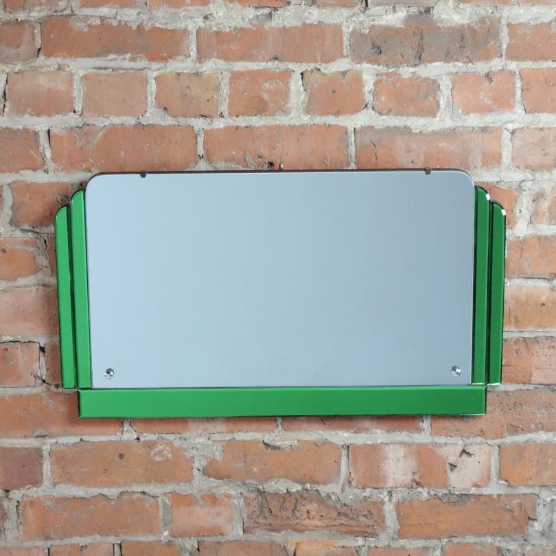 Art Deco Green Wall Mirror 1930's