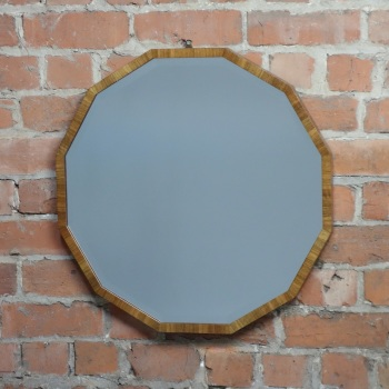 Art Deco Walnut Wall Mirror by Waring And Gillow Circa 1930 SOLD