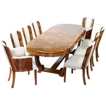 Art Deco Dining Suite by Hille Seats Eight .Reserved