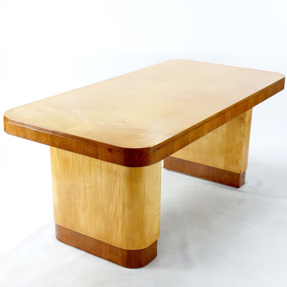 Art Deco Writing Table/ Desk in Sycamore