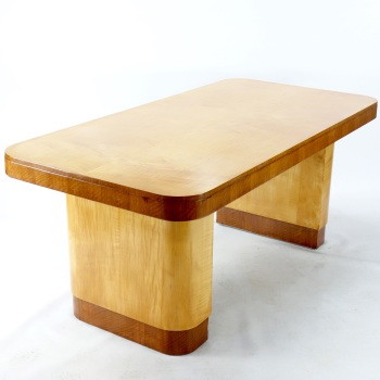 Art Deco Writing Table/ Desk in Sycamore RESERVED