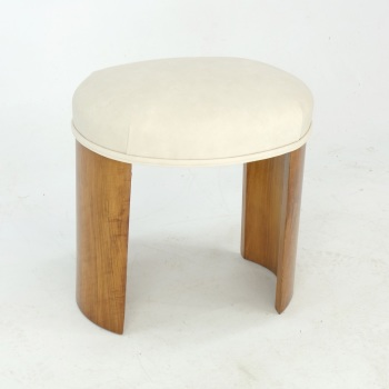 Art Deco Oval Stool in  Walnut c.1930