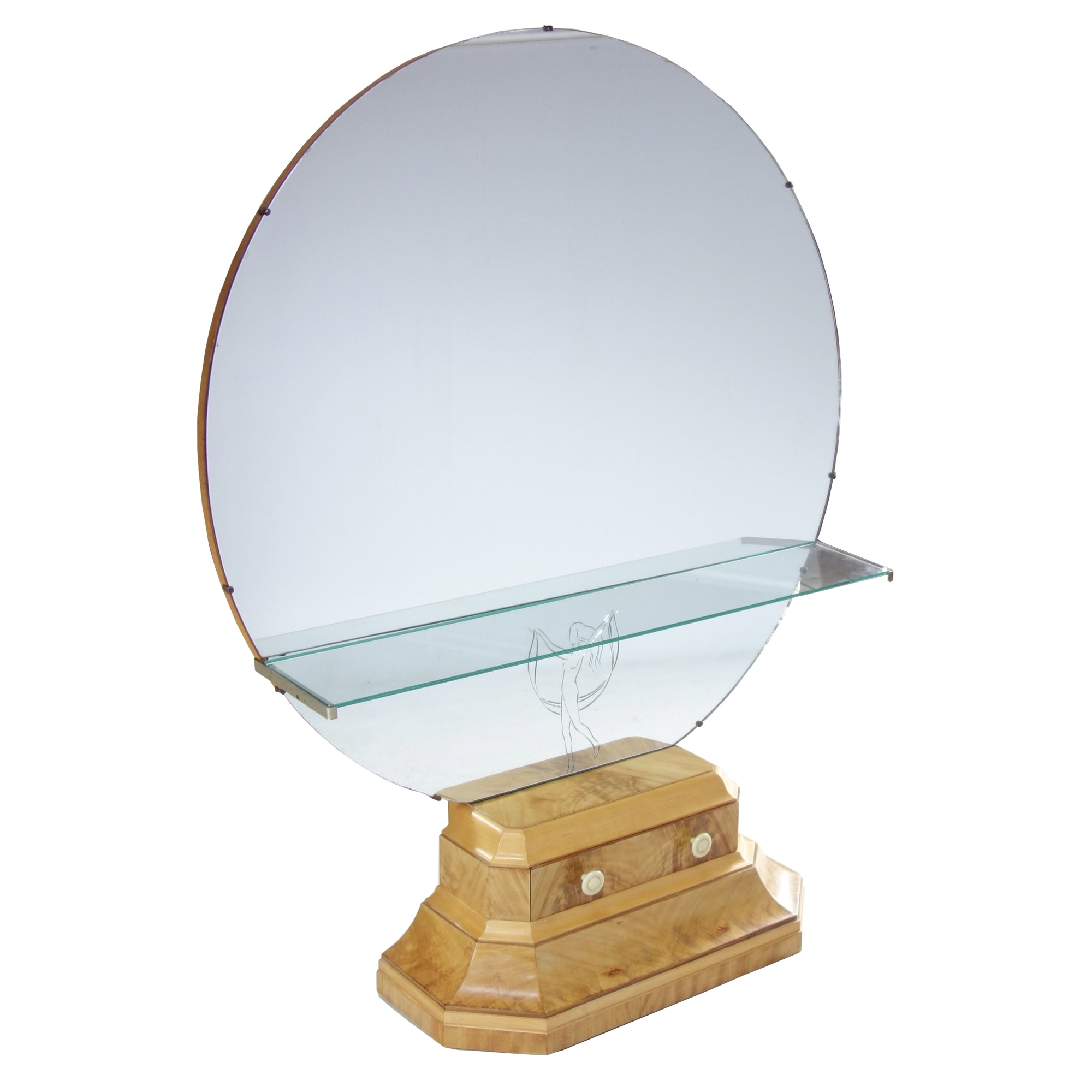 Art Deco cheval mirror