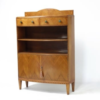 Art Deco Bookcase in Walnut  Bath Cabinet Makers