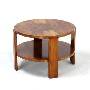 Art Deco Figured Walnut Two Tier Coffee/side Table 1930s