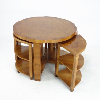 Art Deco Nest of Five Tables by The Epstein Brothers. SOLD