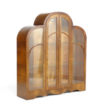Art Deco Cloud Display Cabinet 1930's  SOLD