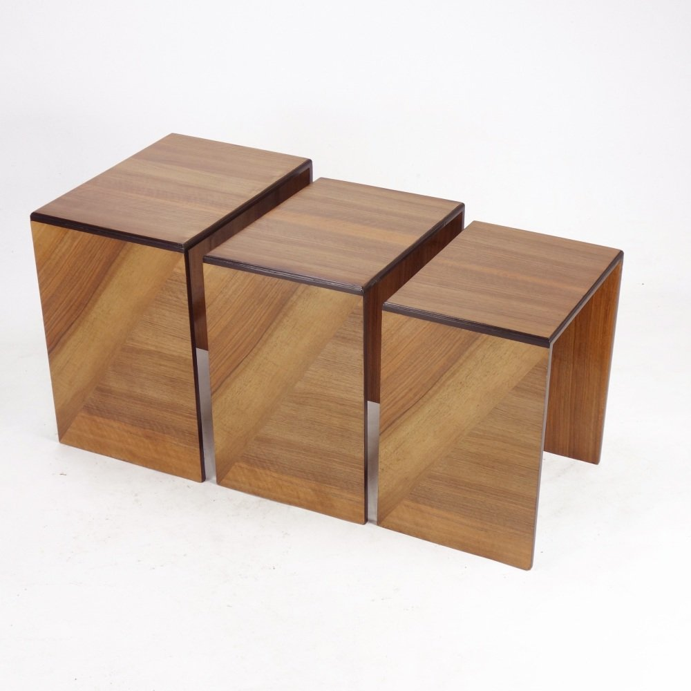 Art Deco Nest of three Tables 1930s