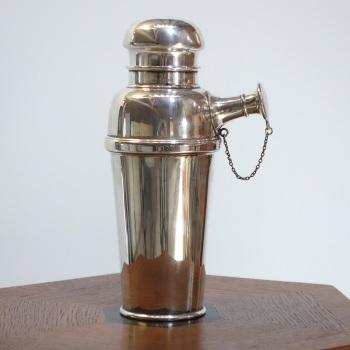 Art Deco Silver Plate Cocktail Shaker  British c.1930