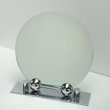 Art Deco Adjustable Chrome Table Mirror