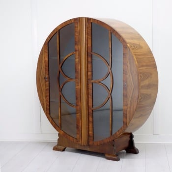 Art Deco Round Display Cabinet 1930s.SOLD